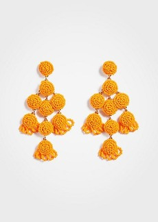 Ann Taylor Large Seed Bead Statement Earrings