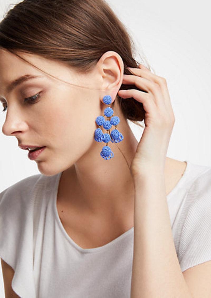 ANN TAYLOR Large Seed Bead Statement Earrings YEETdCMpgK