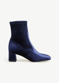 Larissa Velvet Stretch Booties