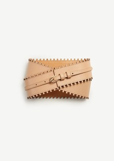 Ann Taylor Laser Cut Leather Belt