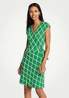 Ann Taylor Lattice Knit Wrap Dress