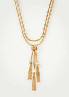 Ann Taylor Layered Tassel Necklace