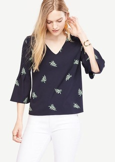 Leaf Fluted Sleeve Top
