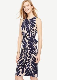 Leaf Petal Peplum Sheath Dress