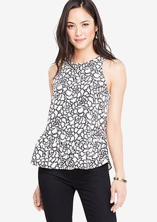 Ann Taylor Leafed Ruffle Swing Top