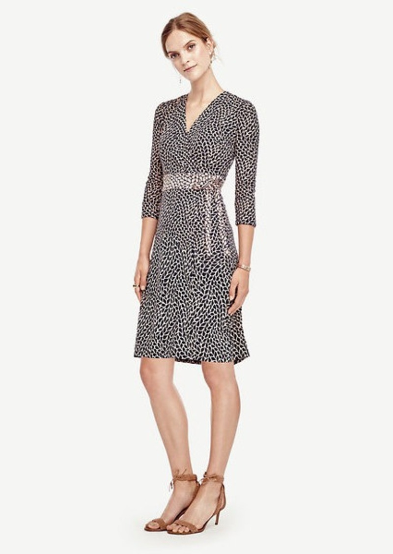 Ann Taylor Leafy Wrap Dress