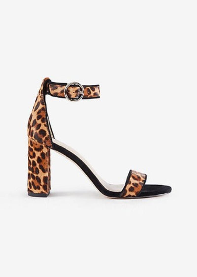 a574f2dd9713 Ann Taylor Leannette Leopard Print Haircalf Block Heel Sandals