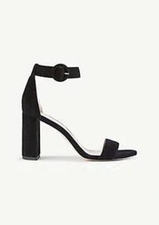 Ann Taylor Leannette Suede Block Heel Sandals