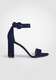 Ann Taylor Leannette Suede Leather Block Heel Sandals
