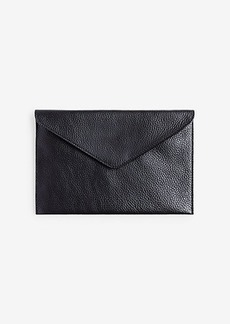 Ann Taylor Leather Envelope Clutch