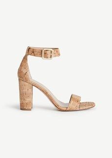 Ann Taylor Leda Cork Block Heel Sandals