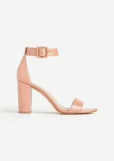 Leda Patent Leather Block Heel Sandals