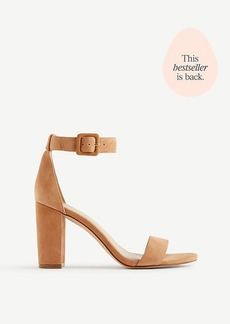 Ann Taylor Leda Suede Block Heel Sandals