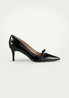 Ann Taylor Leighton Patent Leather Bow Pumps