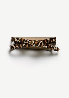 Ann Taylor Leopard Print Haircalf Skinny Belt