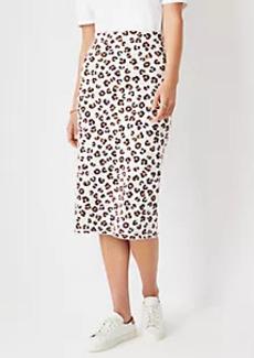Ann Taylor Leopard Print Sweater Pencil Skirt