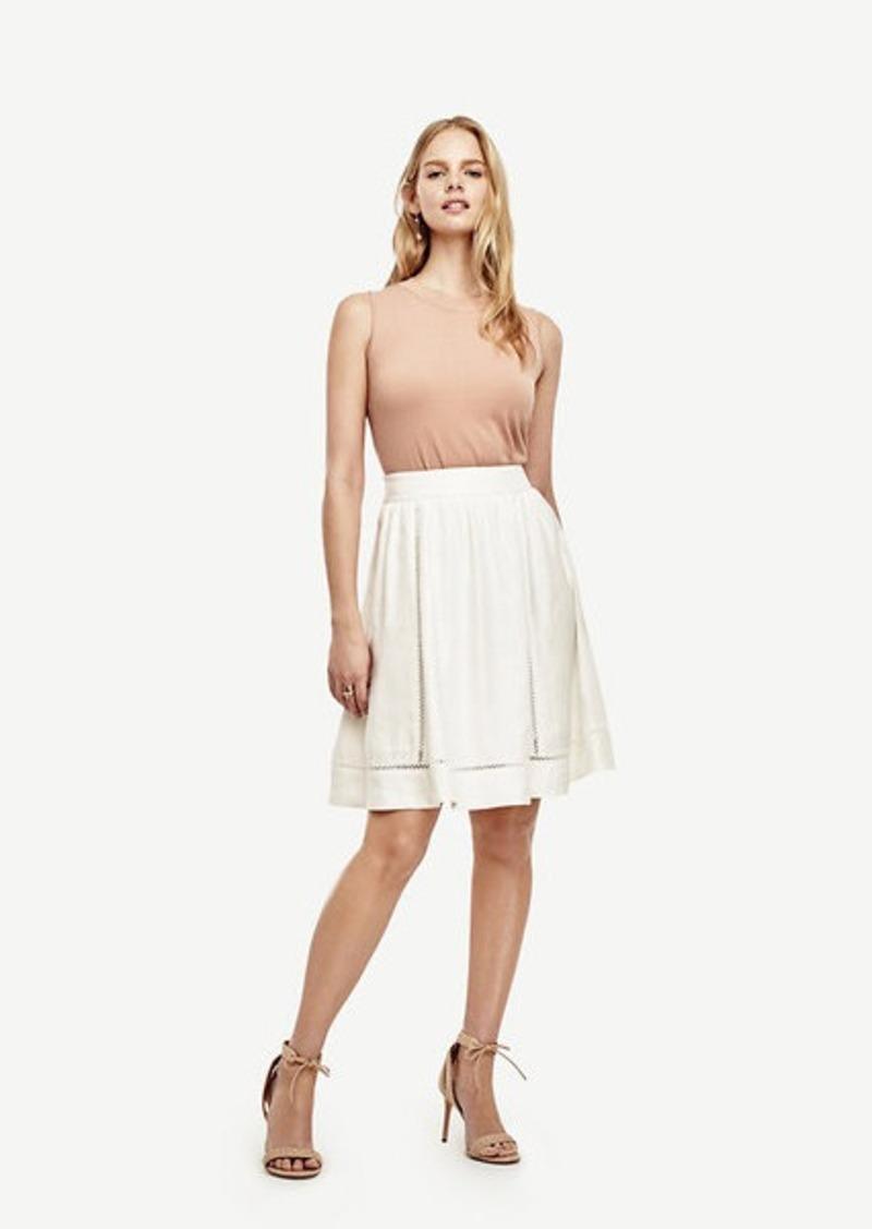Ann Taylor Linen Blend Full Skirt