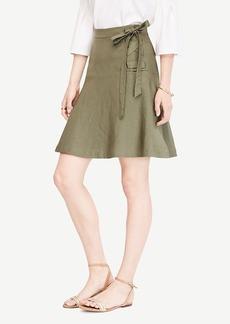Ann Taylor Linen Blend Lace Up Skirt