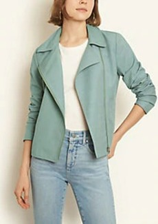 Ann Taylor Linen Blend Moto Jacket