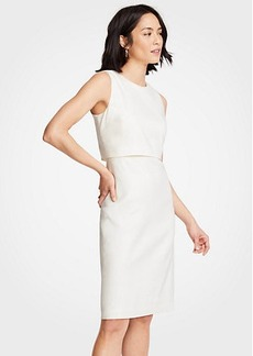 Ann Taylor Linen Blend Overlay Sheath Dress