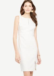 Linen Blend Sheath Dress