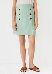 Ann Taylor Linen Blend Wrap Sailor Skirt