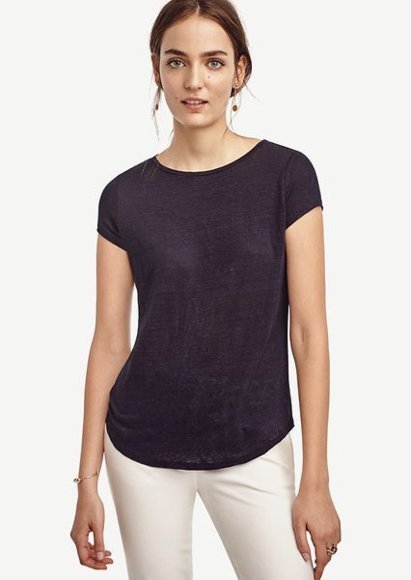 Ann Taylor Linen Boatneck Tee