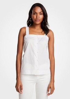 Ann Taylor Linen Cotton Button Down Tank