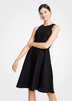 Ann Taylor Linen Cotton Flare Dress