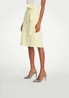 Ann Taylor Linen Tie Waist Wrap Skirt