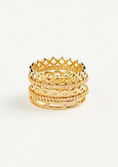 Ann Taylor Link Stacked Ring Set