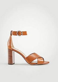 Ann Taylor Liya Leather Block Heel Sandals