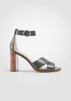 Liya Leather Block Heel Sandals
