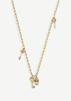 Ann Taylor Lock And Key Layering Necklace