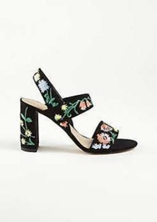 Ann Taylor Lorna Garden Embroidered Suede Sandals