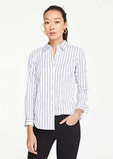 Ann Taylor Striped Perfect Shirt