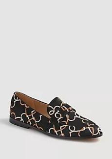 Ann Taylor Luci Heart Chain Haircalf Loafers