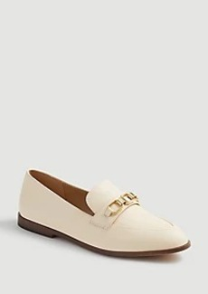 Ann Taylor Luci Leather Chain Loafers