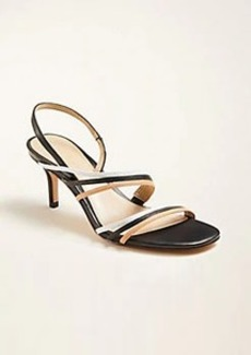 Ann Taylor Lyle Triple Strap Leather Sandals