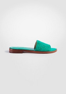 Lyra Suede Quilted Slide Sandals