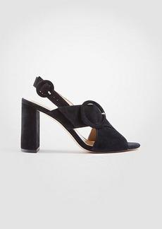 Magda Suede Buckle Block Heel Sandals