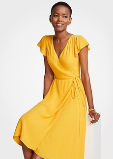 Marigold Ruffle Wrap Dress