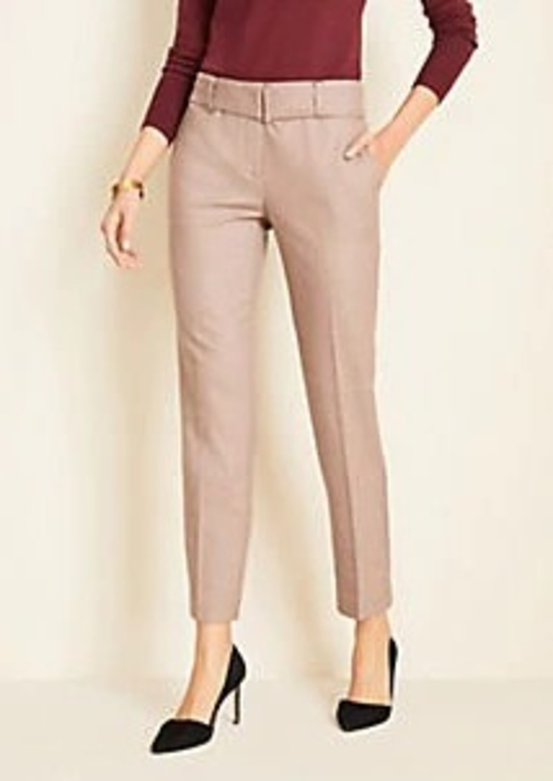Ann Taylor Marled Belted Ankle Pants