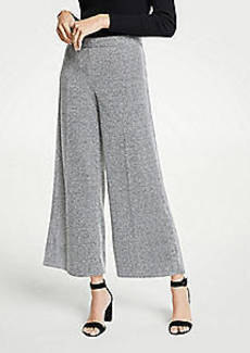 Ann Taylor Marled Knit Wide Leg Crop Pants