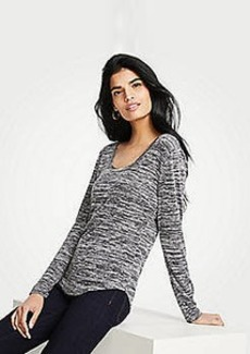 Ann Taylor Marled Scoop Neck Long Sleeve Tee
