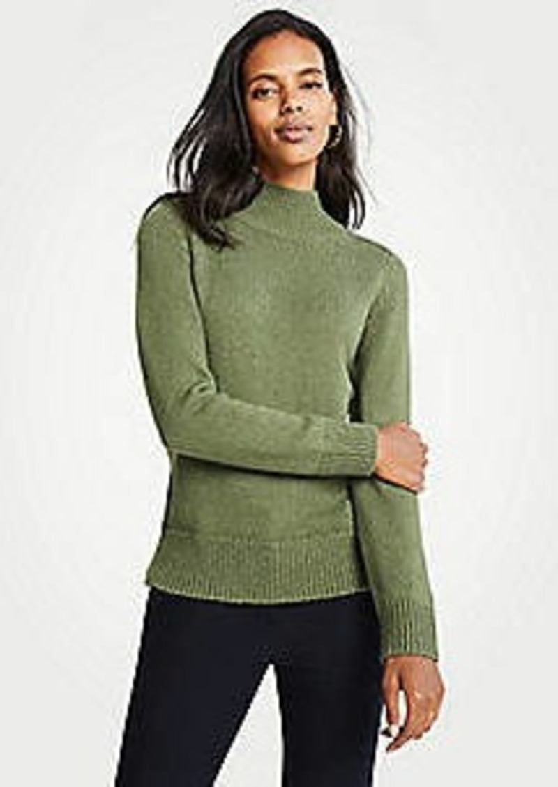 Ann Taylor Marled Turtleneck Sweater