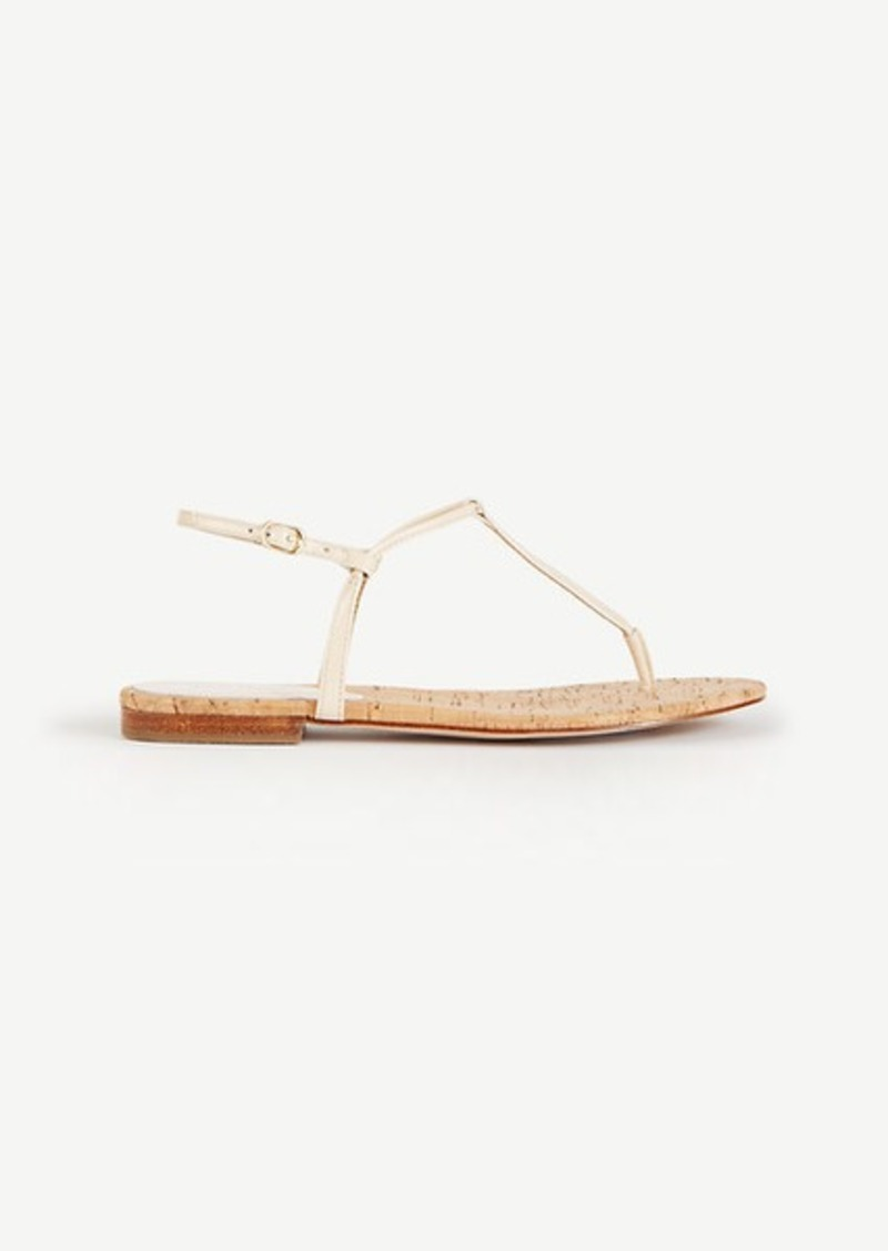 Ann Taylor Matilda Patent Leather Thong Sandals