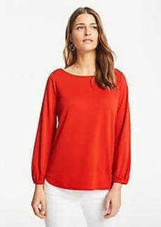 Ann Taylor Matte Jersey Blouson Sleeve Top
