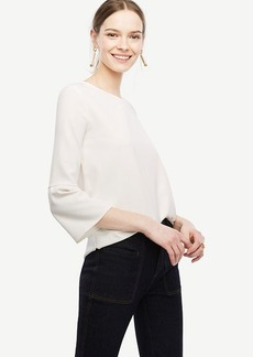 Matte Jersey Flare Sleeve Top