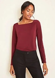 Ann Taylor Matte Jersey Square Neck Top